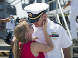 Sailor Says Goodbye to His Wife Prior to Deployment Photographic Print