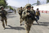 U.S. Army Soldiers Provide Security in Farah City, Afghanistan Photographic Print