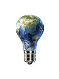 Light Bulb with Planet Earth Inside Glass, Asia View Posters