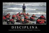 Disciplina. Cita Inspiradora Y Póster Motivacional Fotografická reprodukce