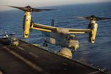 A U.S. Marine Corps MV-22B Osprey Lands on USS Kearsarge Photographic Print