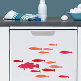 Goldfish Mini Window or Appliance Decal Stickers Window Decal