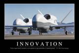 Innovation: Citation Et Affiche D'Inspiration Et Motivation Photographic Print