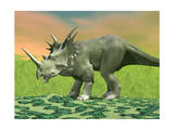 3D Rendering of a Styracosaurus Dinosaur Print
