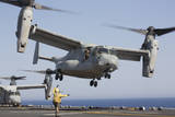An MV-22 Osprey Takes Off from the Amphibious Assault Ship USS Kearsarge Photographic Print