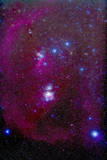 The Orion Nebula, Belt of Orion, Sword of Orion and Nebulosity Photographic Print