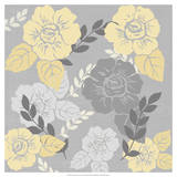 Yellow Roses on Grey I Giclee Print by Jade Reynolds
