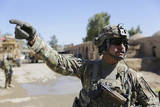 U.S. Army Soldier Provides Security in Farah City, Afghanistan Photographic Print