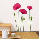 Pink Poppy Mini Wall Decals Wall Decal