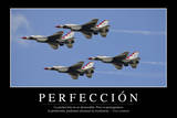 Perfección. Cita Inspiradora Y Póster Motivacional Photographic Print