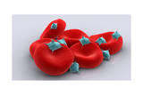 Conceptual Image of Platelets with Red Blood Cells Posters