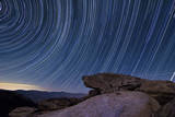 Star Trails and a Granite Rock Outcropping Overlooking Anza Borrego Desert State Park Photographic Print