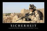 Sicherheit: Motivationsposter Mit Inspirierendem Zitat Photographic Print