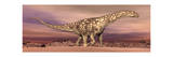 Large Argentinosaurus Dinosaur Walking in the Desert Prints