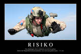 Risiko: Motivationsposter Mit Inspirierendem Zitat Photographic Print