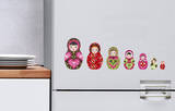 Russian Dolls Mini Window or Appliance Decal Stickers Window Decal