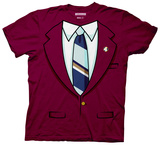 Anchorman - Burgundy Costume Tee Shirt