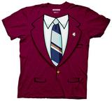 Anchorman - Burgundy Costume Tee Shirt
