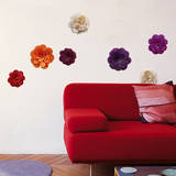 Flowers of Paper Mini Wall Decals Wall Decal