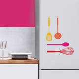 Utensils Color Mini Window or Appliance Decal Stickers Window Decal