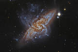 Ngc 3314, a Pair of Overlapping Spiral Galaxies Photographic Print