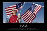 Paz. Cita Inspiradora Y Póster Motivacional Photographic Print