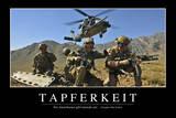 Tapferkeit: Motivationsposter Mit Inspirierendem Zitat Photographic Print