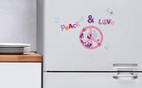 Peace and Love Mini Window or Appliance Decal Stickers Window Decal