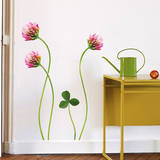 Flowers of Clover Mini Wall Decals Wall Decal