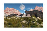 Corythosaurus Nesting Ground Set During the Cretaceous Period Prints
