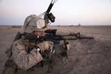 U.S. Marine Provides Security at Camp Bastion, Afghanistan Photographic Print