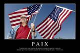 Paix: Citation Et Affiche D'Inspiration Et Motivation Photographic Print
