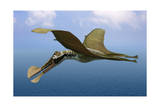 Tropeognathus Mesembrinus, a Large Pterosaur from the Late Cretaceous Period Poster