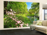 Park In The Spring Wall Mural Wallpaper Mural