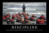 Discipline: Citation Et Affiche D'Inspiration Et Motivation Lámina fotográfica