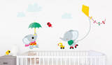 Elephant Kite Kids Wall Decals Wall Decal