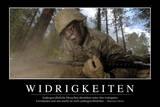 Widrigkeiten: Motivationsposter Mit Inspirierendem Zitat Photographic Print