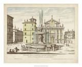 Fountains of Rome I Giclee Print by Vision Studio