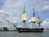USS Constitution in the Boston Harbor Photographic Print