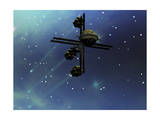 A Starship from Earth with Ion Drive Propulsion Explores the Cosmos Prints