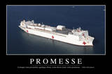 Promesses: Citation Et Affiche D'Inspiration Et Motivation Photographic Print