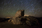 Star Trails and Large Boulders Anza Borrego Desert State Park, California Photographic Print