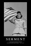 Serment: Citation Et Affiche D'Inspiration Et Motivation Photographic Print