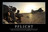 Pflicht: Motivationsposter Mit Inspirierendem Zitat Photographic Print