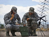 Airmen Operate a Mobile Ground Radio Satellite System Photographic Print