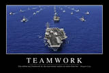 Teamwork: Motivationsposter Mit Inspirierendem Zitat Photographic Print