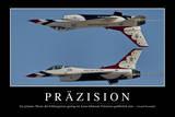 Präzision Motivationsposter Mit Inspirierendem Zitat Photographic Print