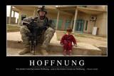 Hoffnung: Motivationsposter Mit Inspirierendem Zitat Photographic Print