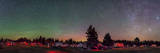 A 360 Degree Panorama with Aurora and Bands of Airglow at a Summer Star Party Photographic Print