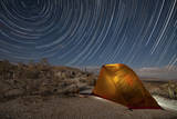 Star Trails Above a Campsite in Anza Borrego Desert State Park, California Photographic Print